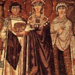1 Empress Theodora, wife of Justinian, dressed in tyrian purple 6th century | Purple: How a Failed Chemistry Lab Experiment Altered 19th Century Class Structure | Writer Mariecor | WriterMariecor.com