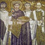 1 Justinian from mosaic in San Vitale, Ravenna from uncp.edu | Purple: How a Failed Chemistry Lab Experiment Altered 19th Century Class Structure | Writer Mariecor | WriterMariecor.com