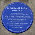 Photo credit: from PlaquesOfLondon.co.uk, Perkin Plaque from PlaquesOfLondon.co.uk | Purple: How a Failed Chemistry Lab Experiment Altered 19th Century Class Structure | Writer Mariecor | WriterMariecor.com