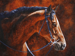 Hanoverian horse painting