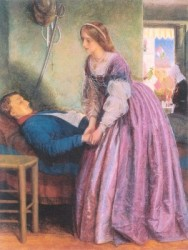 A Piedmontese by Arthur Hughes 1862 | Purple: How a Failed Chemistry Lab Experiment Altered 19th Century Class Structure | Writer Mariecor | WriterMariecor.com