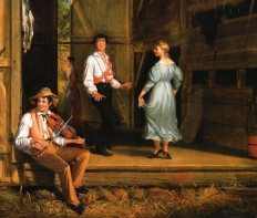 William Sidney Mount American painter, 1807-1868, Dancing on the Barn Floor 1831 | WriterMariecor.com
