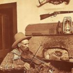 Antique Photo of Cowboy with Fiddle | WriterMariecor.com