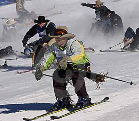 The annual Cowboy Downhill Skiing Event | Writer Mariecor | WriterMariecor.com