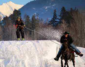 The Cowboy Winter Sport of SKIJORING | Writer Mariecor | WriterMariecor.com