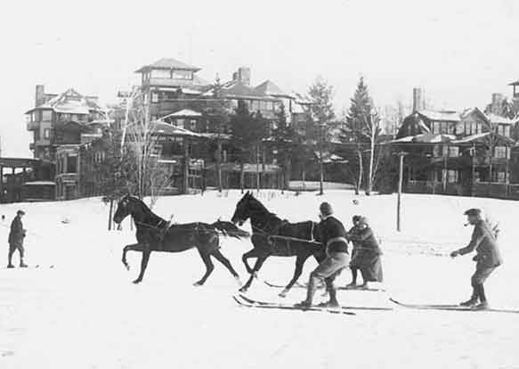 Historical photo of skijoring | Writer Mariecor | WriterMariecor.com