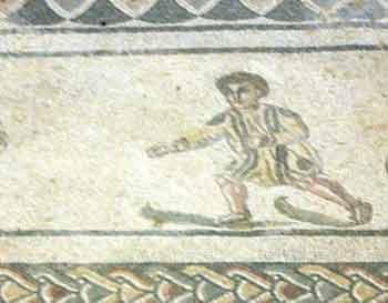 Roman mosaic depicting a skier | Writer Mariecor | WriterMariecor.com
