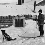 Skijoring with canine in 1912 | Writer Mariecor | WriterMariecor.com