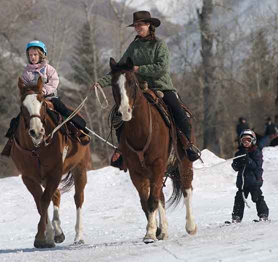 Youth Trainees Skijoring with Instructor | Writer Mariecor | WriterMariecor.com
