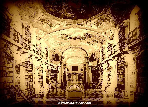 The Admont Monastery Digital Art I Writer Mariecor I WriterMariecor.com