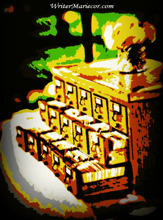 The Old School Card Catalog Digital Art I Writer Mariecor I WriterMariecor.com
