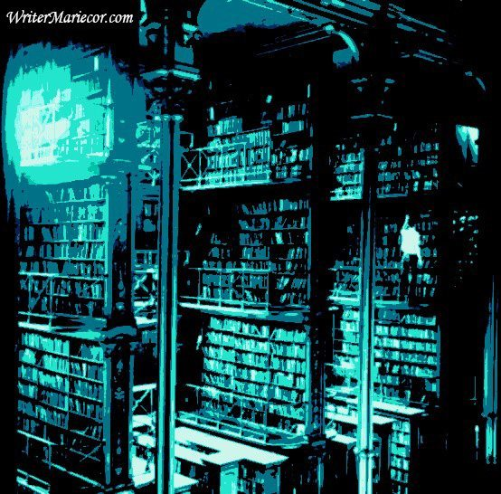 The Old School Library Nostalgia Digital Art I Writer Mariecor I WriterMariecor.com