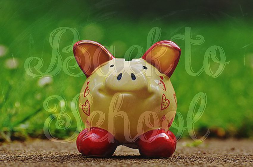 Back-to-School Family Finance Piggy Bank I Writer Mariecor I WriterMariecor.com